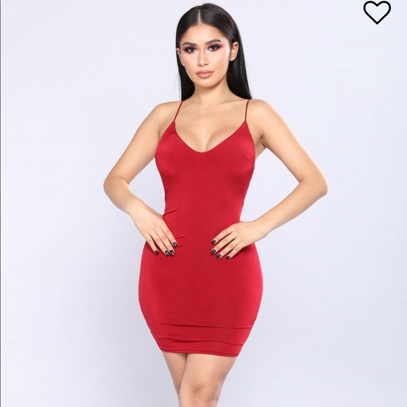 Spaghetti Strap Red Dress
